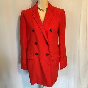 Ann Taylor Bright Lightweight Red Coat